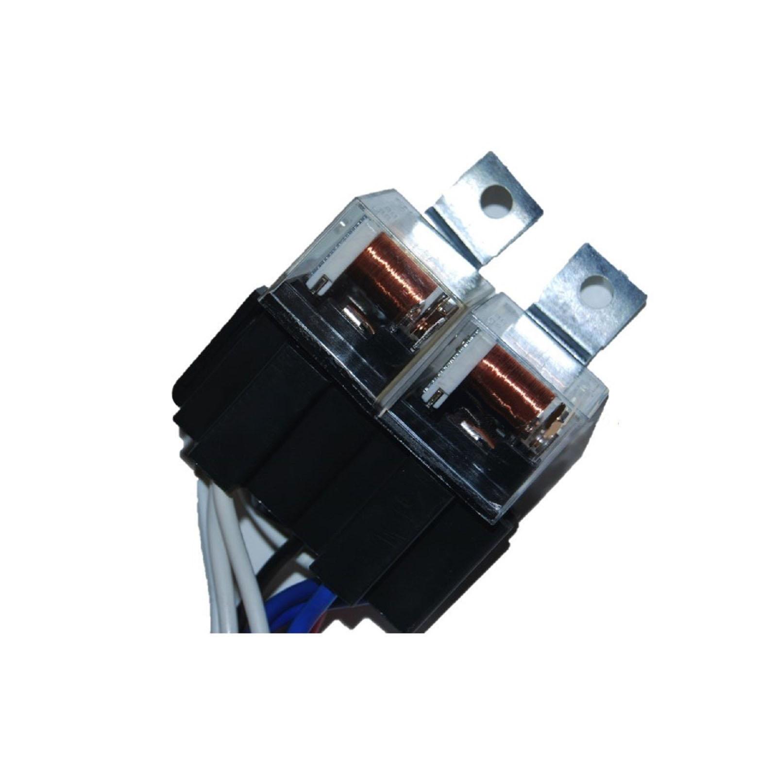 Dual High Low Beam Headlight Relay Wiring Harness H4  9003