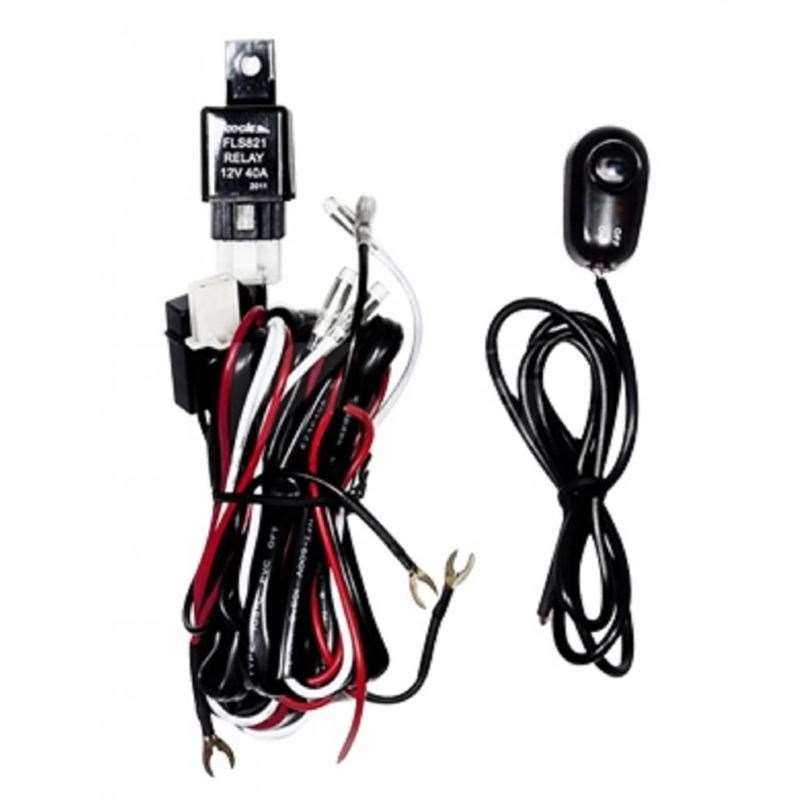 Universal Wiring Harness Include Switch Kit Car Auto Fog Lights Lamp Wire LED...
