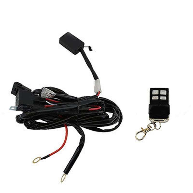 Universal Fog Light Bar Accent LED Lights Lamp Wiring Harness Key Fob Switch Kit