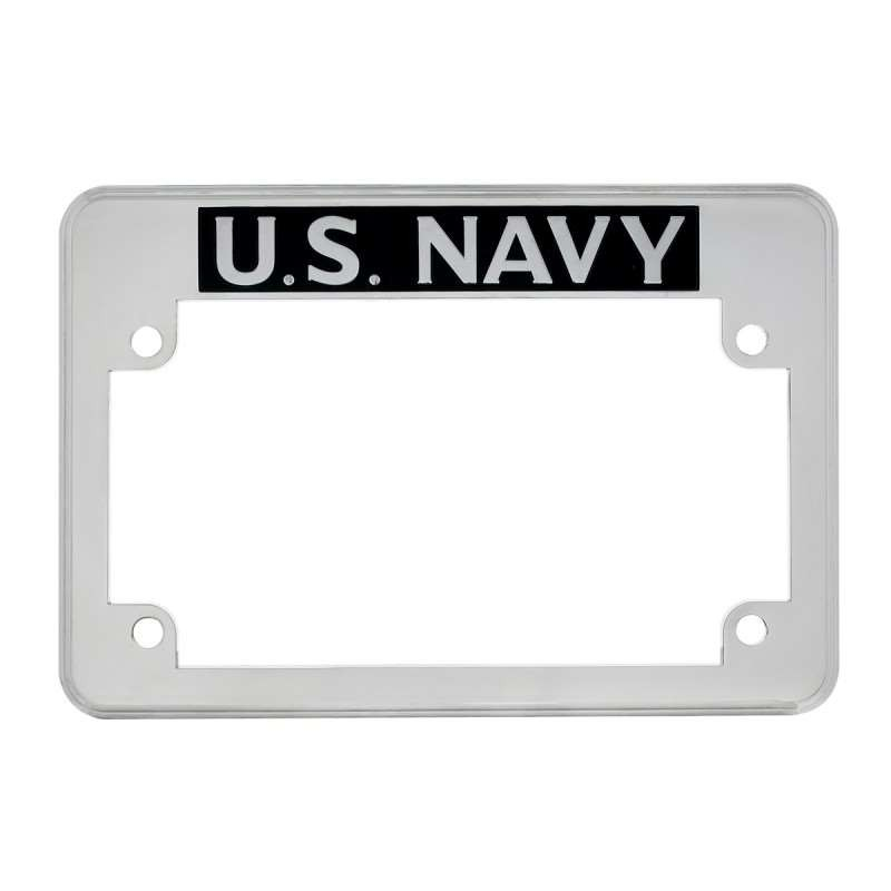"""U.S. Navy"" Motorcycle License Plate Frame 