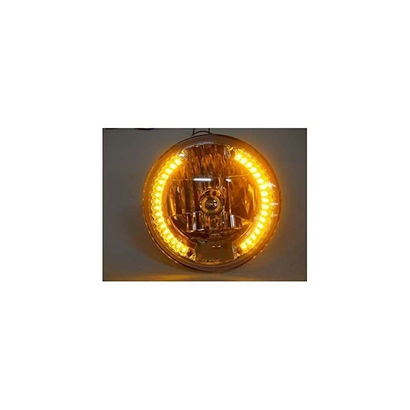 Harley Motorcycle 7 And Crystal Headlight Lamp / 34 LED Amber Marker / Turn Signals