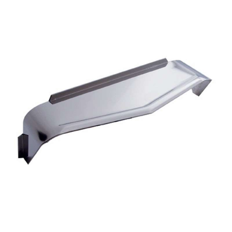 "8"" x 6"" Rectangular Headlight Visor - Ribbed 