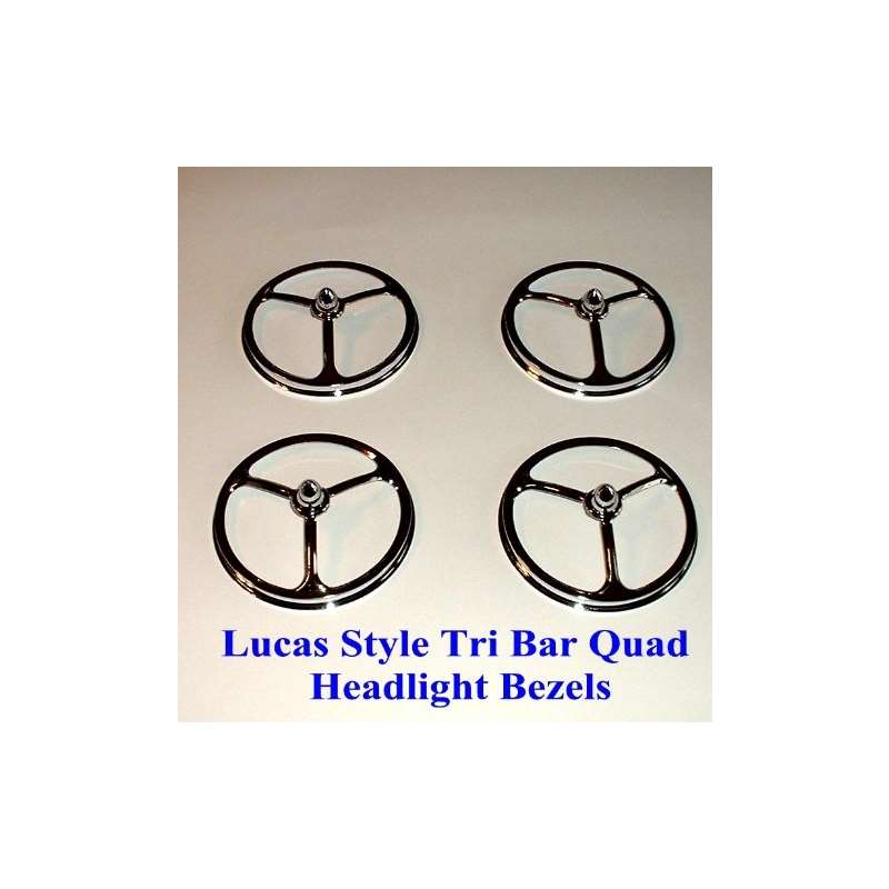 3 3/4 And Lucas Style Quad Bullet Headlight Covers