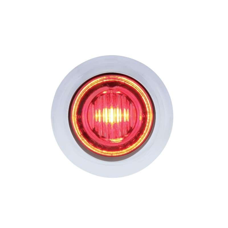 3 LED Dual Color Mini Clearance/Marker Light - Red/White | Clearance Marker Lights
