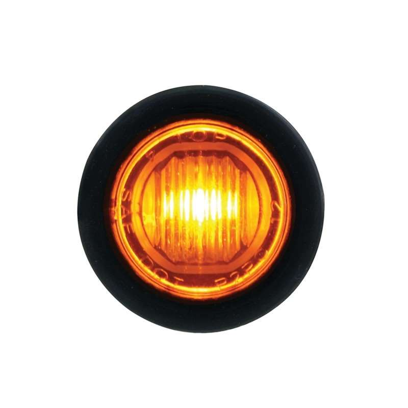 1 SMD LED Mini Clearance/Marker Light with Rubber Grommet - Amber LED / Lens | Clearance Marker Lights