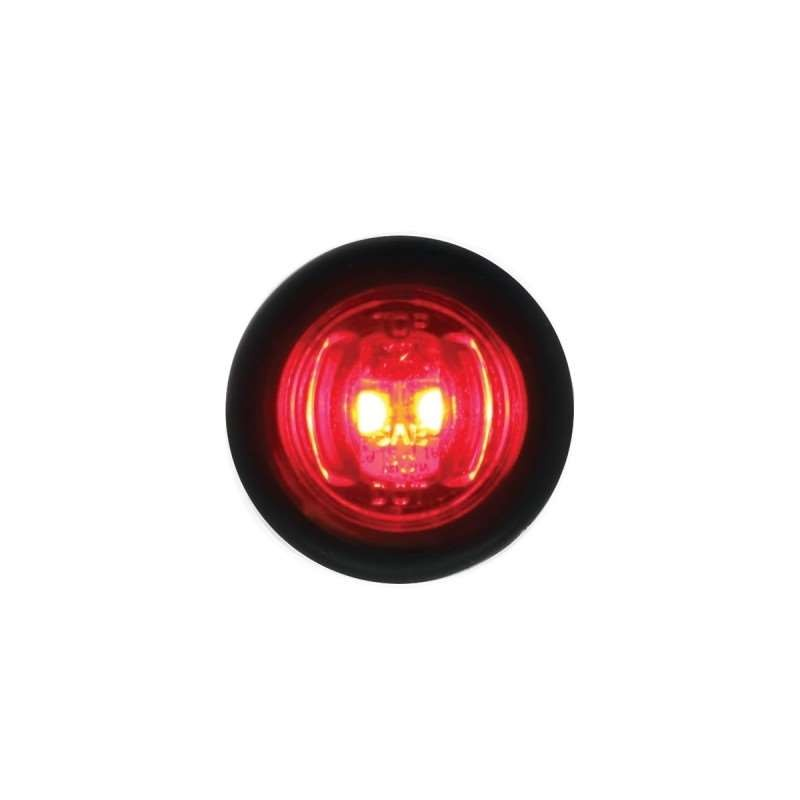 2 LED Mini Clearance/Marker Light - Red LED/Red Lens | Clearance Marker Lights