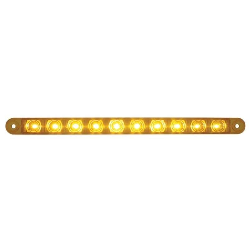 "10 LED 9"" Turn Signal Light Bar -Amber LED/Amber Lens 