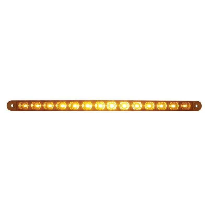 "14 LED 12"" Turn Signal Light Bar - Amber LED/Amber Lens 
