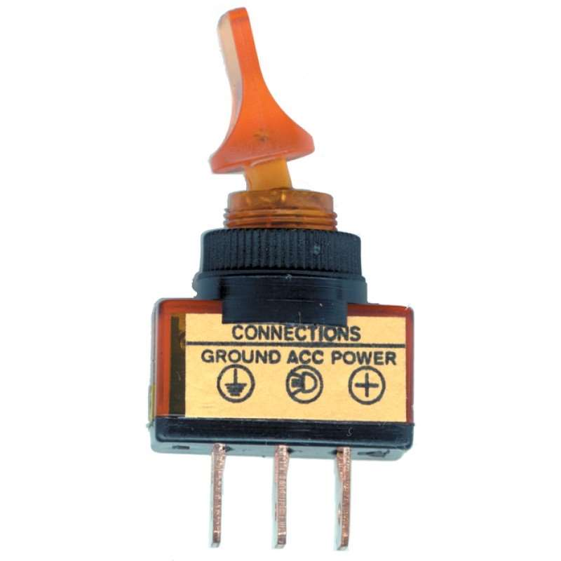 Glow Duck Bill Toggle Switch - Amber | Switches / Buttons