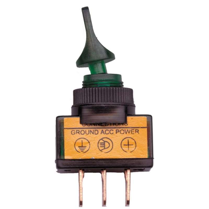 Glow Duck Bill Toggle Switch - Green | Switches / Buttons