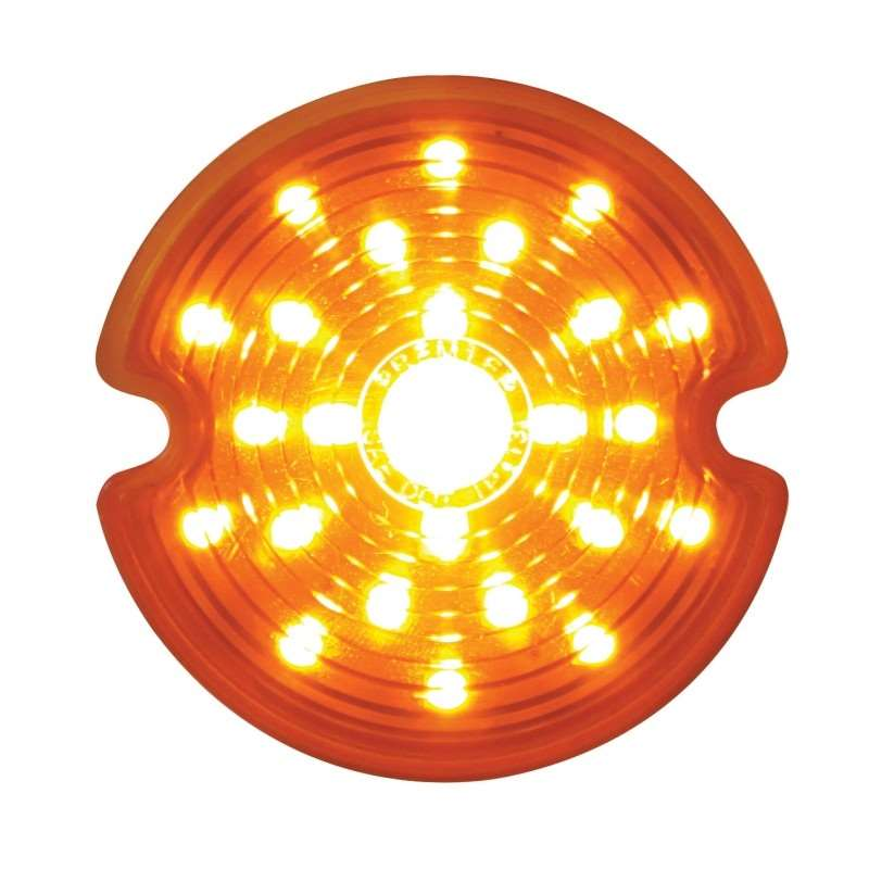 1953-62 Chevy Corvette LED Parking Light Lens - Amber Lens | LED / Incandescent Replacement Lens
