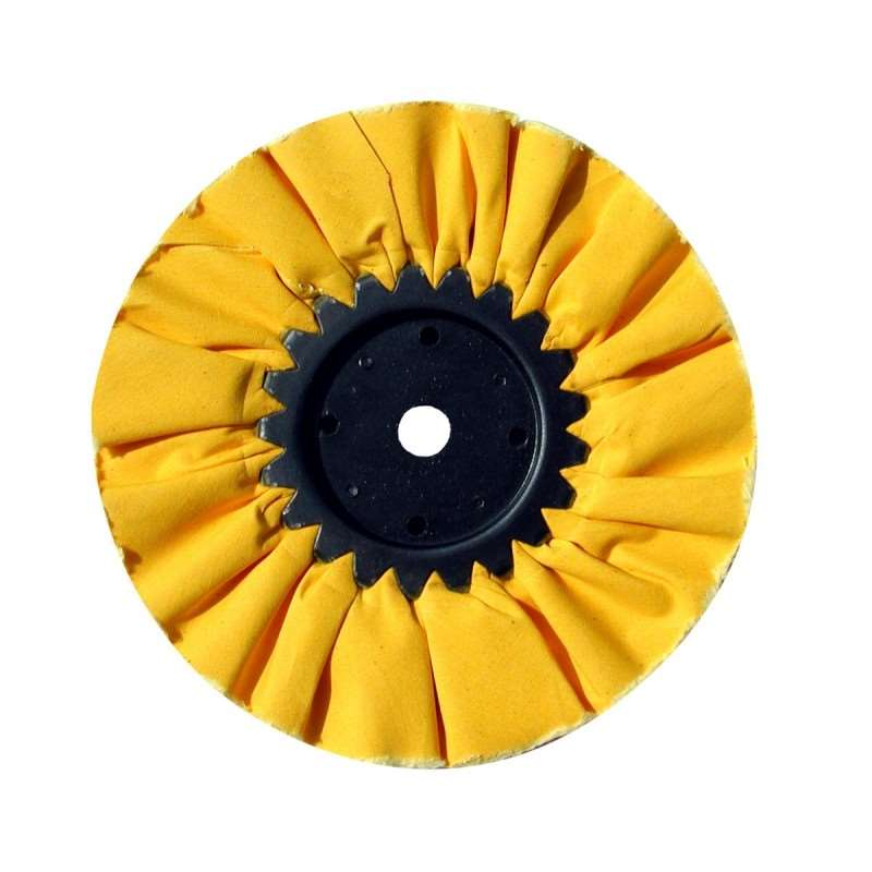"10"" Yellow Treated Airway Buff - 5/8"" / 1/2"" Arbor 