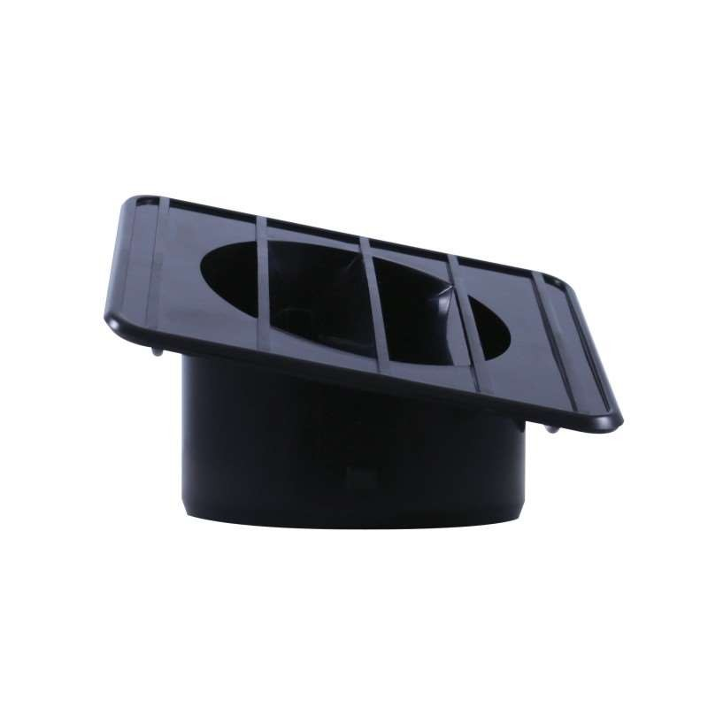 1967-72 Chevy / GMC Truck Defroster Duct - Left Hand Black | Dash / Steering