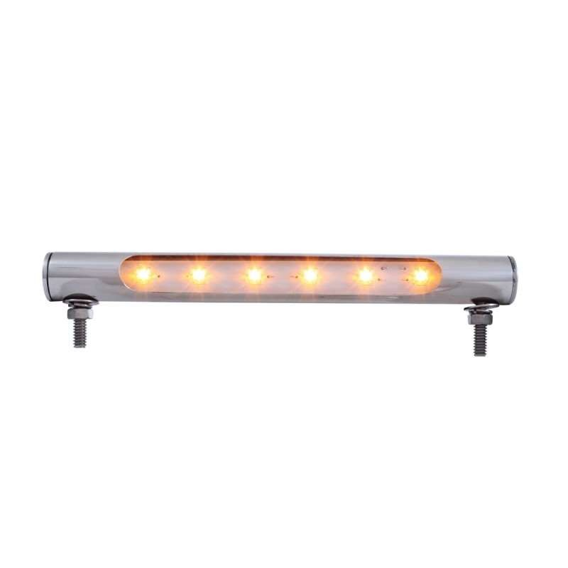 6 LED Stainless Tube Light - Amber LED | License Plate Accessories