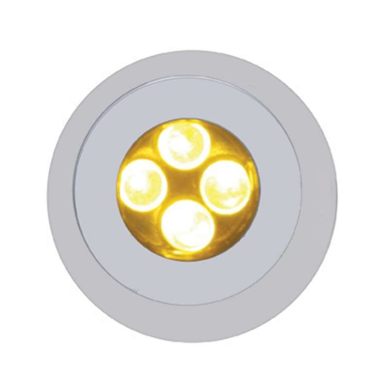 4 LED Fastener - Amber | License Plate Accessories