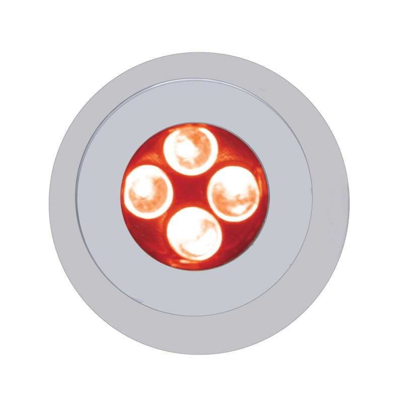 4 LED Fastener - Red | License Plate Accessories