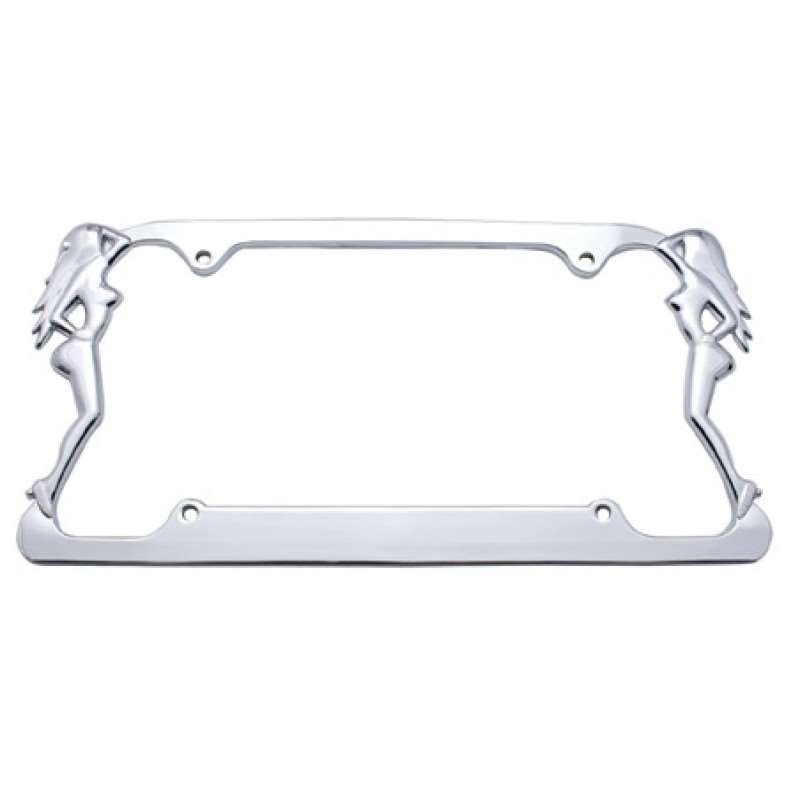 Chrome Nude Lady License Frame | License Plate Frames
