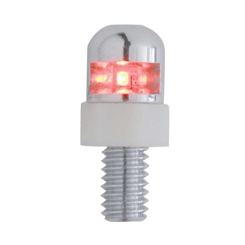 1 LED License Fastener - Red LED | License Plate Accessories