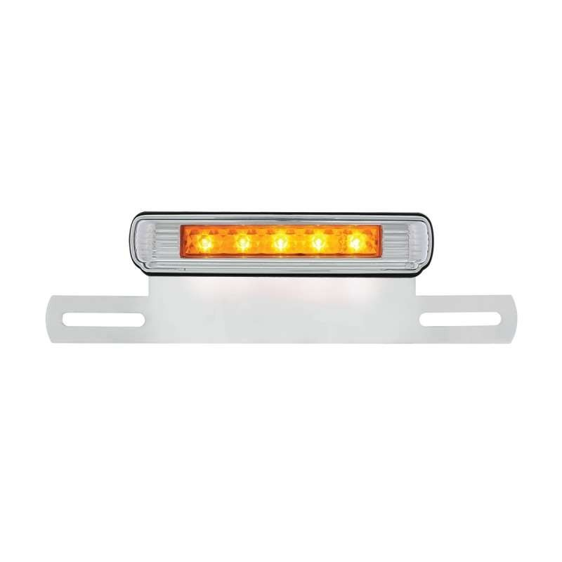 5 Amber LED License Bracket - Auxiliary Light | License Plate Accessories