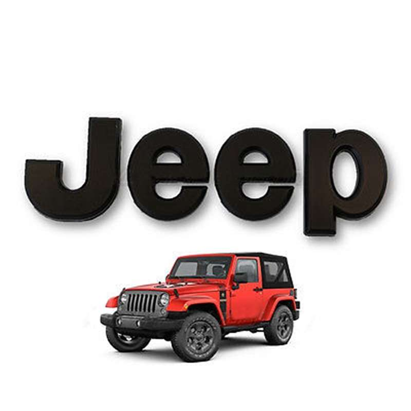 Jeep Stick On Letters Emblem Badge Logo Grille Hood Fender Tailgate SUV Off Road