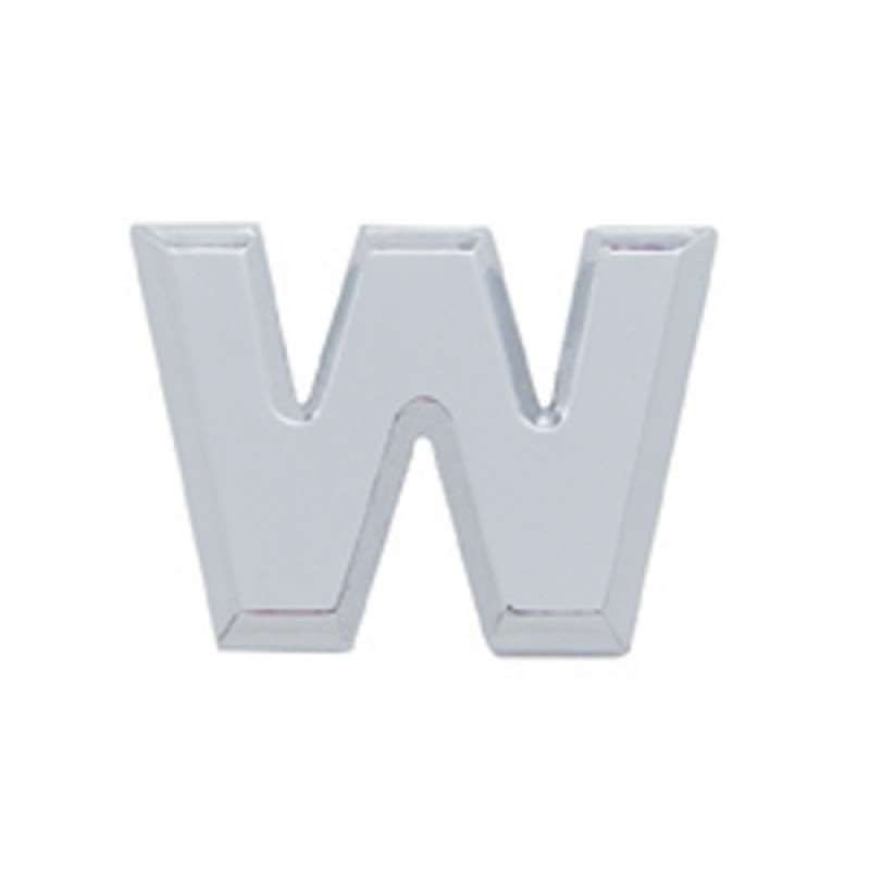 Chrome Letter - W | Letters / Scripts