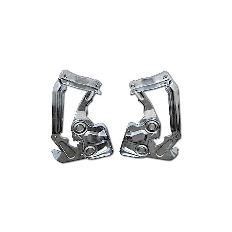 Unfair Advantage 55 56 Chevy Polished Stainless Steel Hood Hinges
