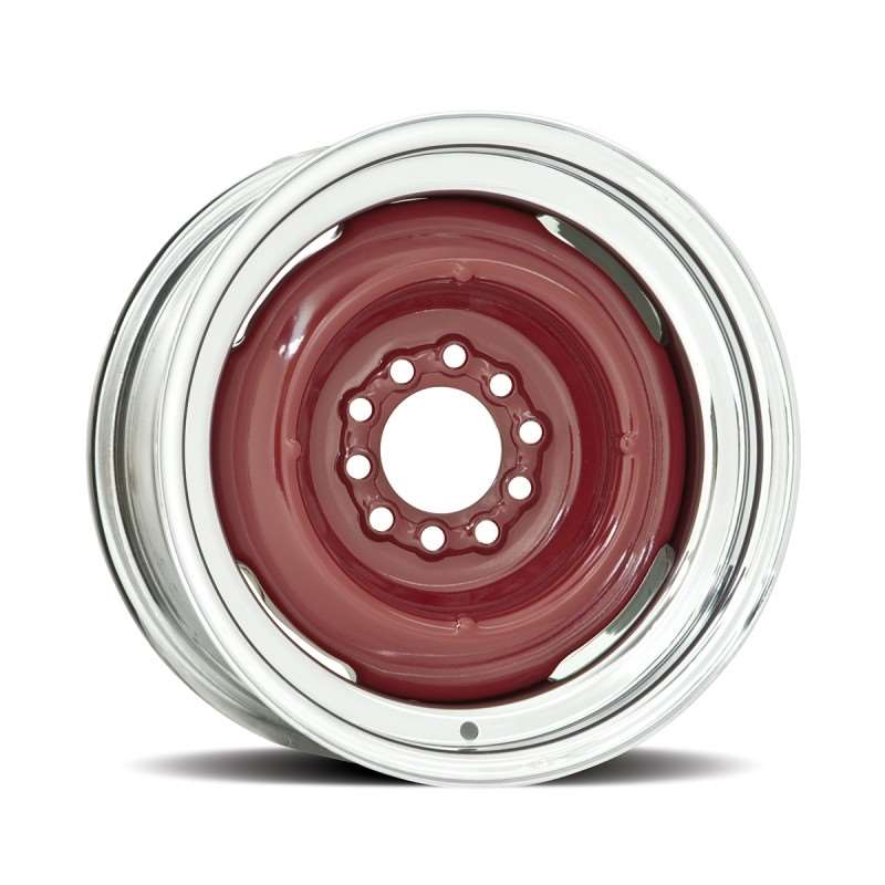 Hot Rod 15 Series Gennie Wheel with Chrome Outer / Bare Metal Center - 15 x 6"