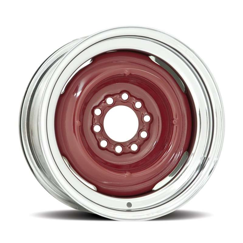 Hot Rod 15 Series Gennie Wheel with Chrome Outer / Bare Metal Center - 16 x 6"