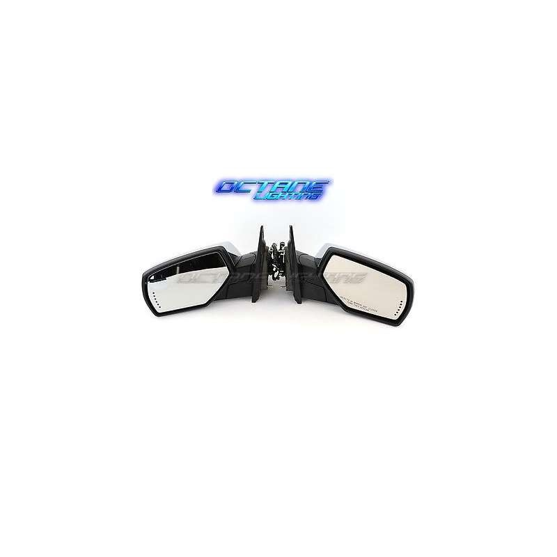 14 15 16 Chevy Silverado Chrome Side Power Rear View Mirrors W/ Harnesses Pair