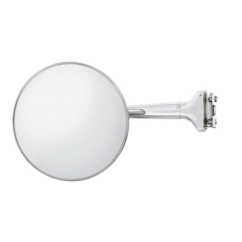 "4"" Round Stainless Steel Peep Mirror With Straight Arm 