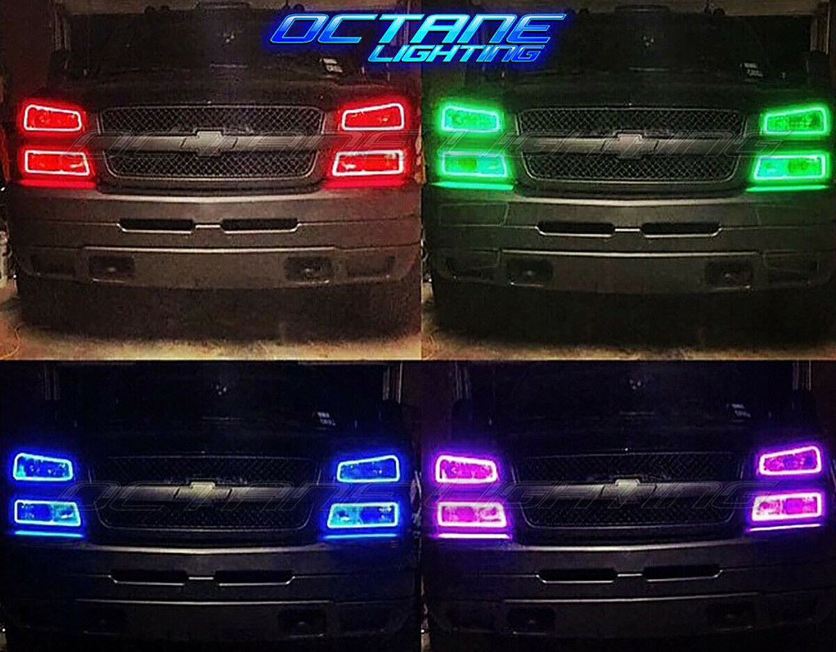 White LED Clear Front Grill Marker Lenses For 09-14 & 17 Ford F-150 SVT Raptor
