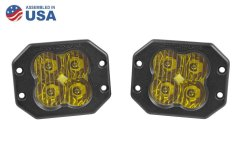 Worklight SS3 Pro Yellow Driving Flush Pair Diode Dynamics