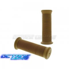 "1"" Natural Rubber Motorcycle Bike Bicycle Handlebar Hand Molded Grips Pair"