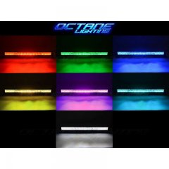 "22"" 5D LED RGB Light Bar Multi-Color Changing Offroad Flash Bluetooth Jeep"