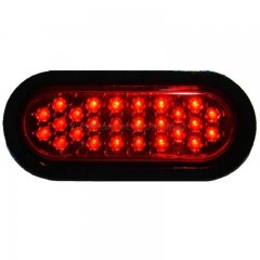 "6"" OVAL 26-RED LED PANEL WITH BLACK GROMMET TRAILER LIGHT"