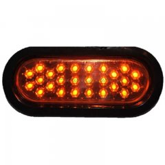 "6"" OVAL 26-AMBER LED PANEL WITH BLACK GROMMET TRAILER LIGHT"