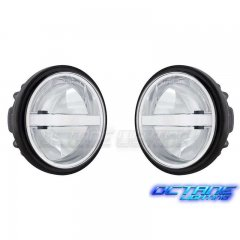 "Pair 4-1/2"" Motorcycle LED Passing Fog Driving Spot Lights: Harley Davidson"