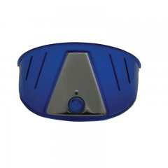 Transparent Plastic Visor - Blue | Headlight Visors and Shields