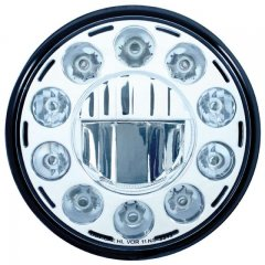 "7"" 11 High Power LEDs Crystal Headlight - Chrome 