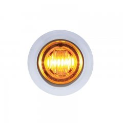 3 LED Dual Color Mini Clearance/Marker Light - Amber/White | Clearance Marker Lights