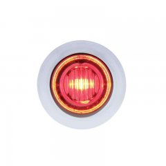 3 LED Dual Color Mini Clearance/Marker Light - Red/Blue | Clearance Marker Lights