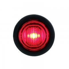 1 SMD LED Mini Clearance/Marker Light with Rubber Grommet - Red LED / Lens | Clearance Marker Lights