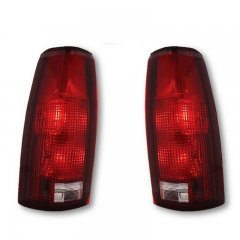 2nd 88-02 Chevy Chevrolet GMC C/K Truck Tahoe Blazer L & R Tail Light Lens Pair