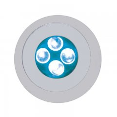 4 LED Fastener - Blue | License Plate Accessories