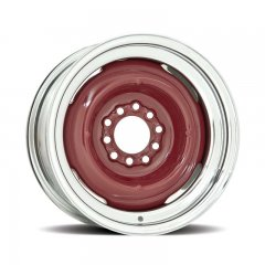 Hot Rod 15 Series Gennie Wheel with Chrome Outer / Bare Metal Center - 15 x 7"