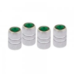 Tubular Valve Caps w/ Diamond - Green | Valve Stem Caps