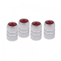 Tubular Valve Caps w/ Diamond - Red | Valve Stem Caps