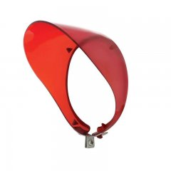 Transparent Plastic Mirror Visor - Red | Exterior Mirror Accessories