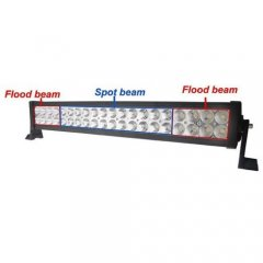 "21.5"" 120W White Dual Row 40-LED Spot Flood Light Bar Off Road Truck 8800 Lumens"