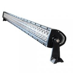"52"" 300W White Dual Row 100-LED Spot Flood Light Bar Off Road Truck 21000 Lumens"